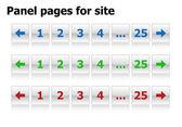 Pages de panneau pour le site — Vecteur