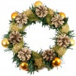 Royalty-Free Stock Photo: Christmas Tree Decoration garland. Isolated over white backgroun