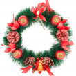 Christmas Tree Decoration garland. Isolated over white backgroun — Stock Photo #4494757