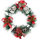 Christmas Tree Decoration garland. Isolated over white backgroun — Stock Photo