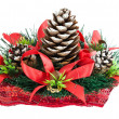 Christmas tree with a pinecone — Stock fotografie