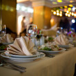 BANQUET TABLE — Stock Photo #4670768