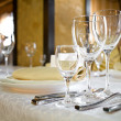 Banquet table — Stockfoto