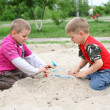 The boys in the sandbox — Stock Photo