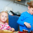 Two kids baking — Stock Photo #3941289