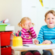Two kids at their room — Stock Photo #3941380