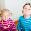 Two kids at home — Stock Photo #3941402