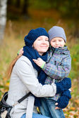 Mother and her son outdoors — Stock Photo