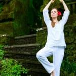 Beautiful woman practicing yoga — Stock Photo #4046614