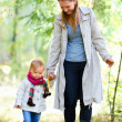 Mother and daughter at forest — Stock Photo #4046793