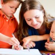 Family drawing — Stock Photo #4092849