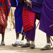 Stock Photo: Closeup of Masai tribe
