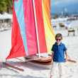 Boy on vacation - Stockfoto