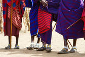 Close-up van masai stam — Stockfoto