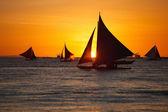 Sunset at ocean — Stock Photo