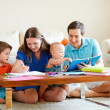 Family drawing — Stock Photo #4160971