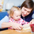 Father and daughter baking together — Stock Photo #4166821