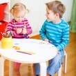 Two kids drawing together — Stock Photo #4166921
