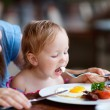 Foto Stock: Family having breakfast