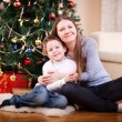 Mother and son at Christmas — Stock Photo
