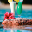Two tropical cocktails — Stock Photo #4640306