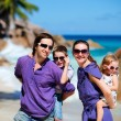 Family with two kids on vacation — Stock Photo #4640399