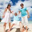 Happy family on tropical vacation — Stock Photo #4661939