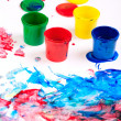 Finger paints — Stock Photo