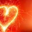 Hot Heart Background — Stock Photo