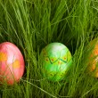 Three Easter eggs — Stock Photo