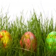 Stock Photo: Three Easter eggs