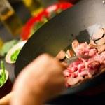 cozinha wok — Foto Stock