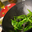 Chef cooking wok — Stock Photo #4687513