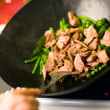 Cooking Wok — Stockfoto