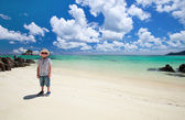 Little boy at beach — Stock Photo