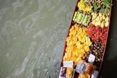 Fruits boat — Stock Photo