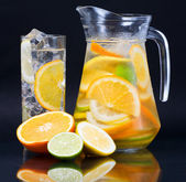 Citrus Ice Water — Stock Photo