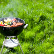 Grilling at summer weekend — Foto Stock