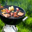 Grilling at summer weekend — Stok fotoğraf