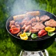 Grilling at summer weekend - Foto Stock