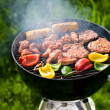 Grilling at summer weekend - Stock Photo