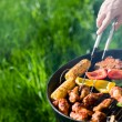Grilling at summer weekend — Foto de Stock