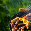 Grilling at summer weekend — Stock Photo #4693274