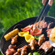 Grilling at summer weekend — Stock Photo #4693303