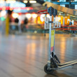 Airport Luggage Cart - Stock Photo