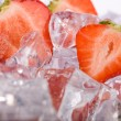 Ice Strawberries — Stock Photo
