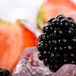 Ice Strawberries and Blackberries — Stock Photo #4695718