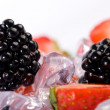 Ice Strawberries and Blackberries — Stock Photo #4695740
