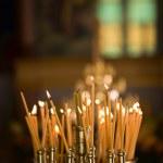velas en la iglesia — Foto de Stock
