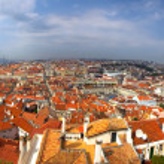 Центра города Лиссабон — Стоковое фото